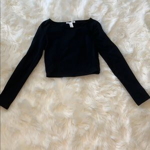 FOREVER 21: Long Sleeve Crop Top - Size S
